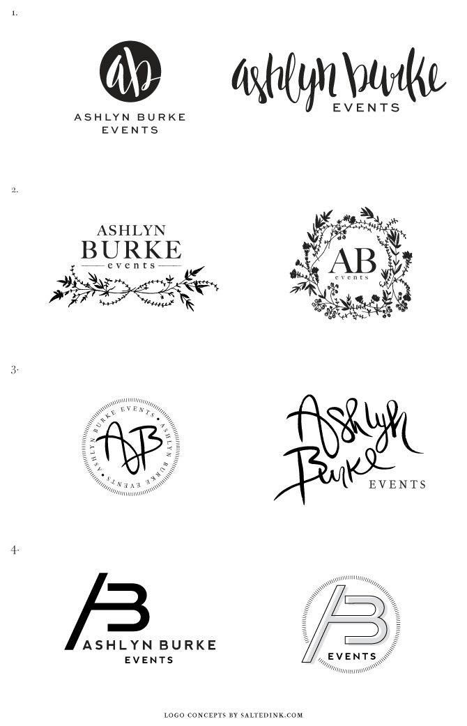 New Brand Launch Ashlyn Burke Events Salted Ink Design Co