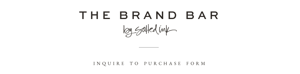 The Brand Bar Purchase Request Form  Salted Ink Design Co